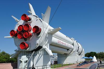 Very large rocket in the rocket garden