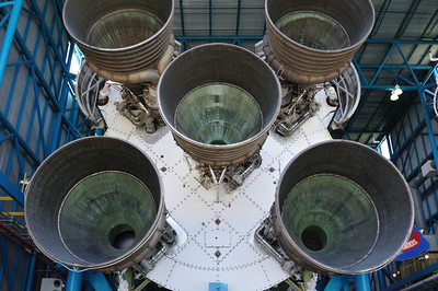 A Saturn V, the rocket that took us to the Moon the first time.