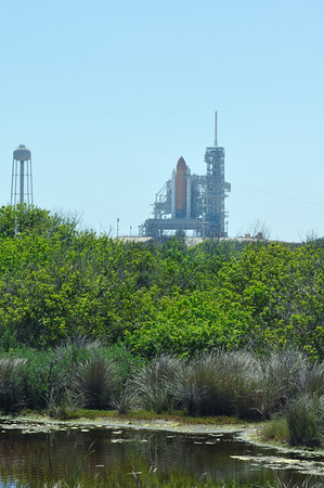 Space Shuttle Endeavour on the launch pad for the last time