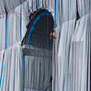 L' Arc de Triomphe, Wrapped. Christo and Jeanne Claude - Sept 2021 - Men from Reseau Jade at work