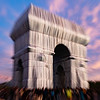 L'Arc de Triomphe, Wrapped - Christo & Jeanne Claude Project - Paris, Oct 3rd, 2021 - Sunset, late afternoon, early evening