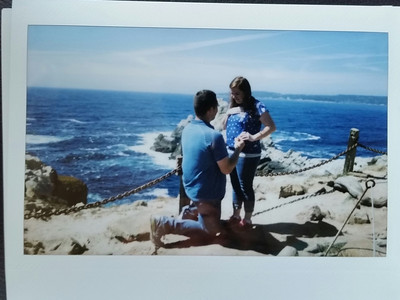 Proposing at Pinnacle Cove, Point Lobos State Reserve (2)