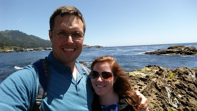 Aaron and Courtney at Point Lobos State Reserve