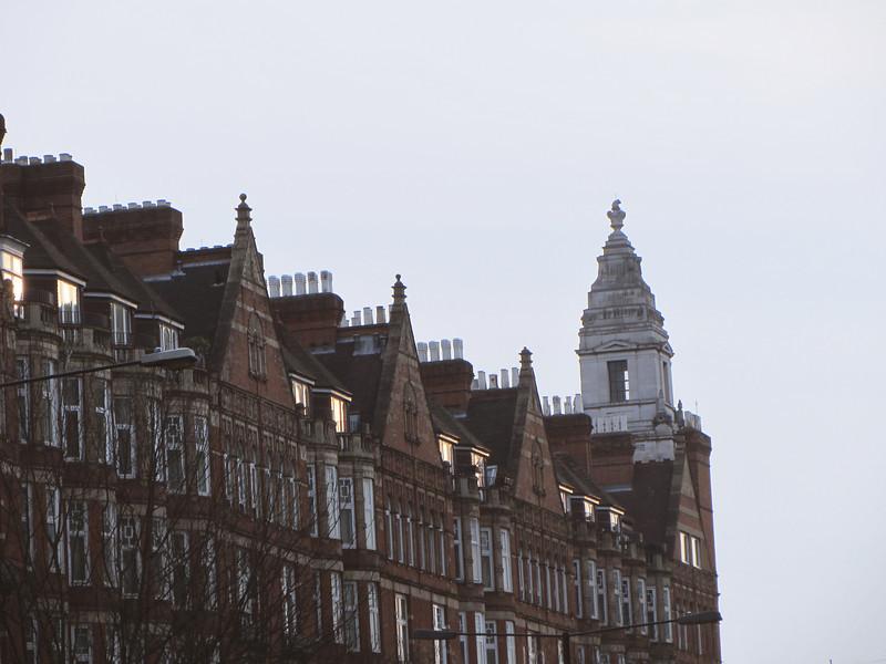 Marylebone Road, at dusk
