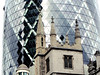 The Church of St  Andrew Undersha, in the shadow of the Gherkin