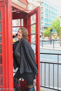 They say you haven't been to London if you don't get your picture in the telephone booth...