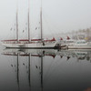 Boats and fog, Long Beach in the morning