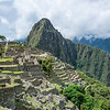 Wayna Picchu or Huayna Picchu (Both have the same pronunciation, so both are right) and the name means Young Mountain. the antonim would be Old Mountain which is Machu Picchu seen past Machu Picchu ruins.