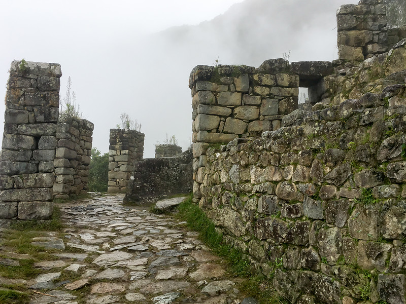 Entering Ruins on the Incan Trail