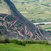 Road up Peruvian Hill Side