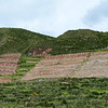 Incan Terraces on Mountain Side