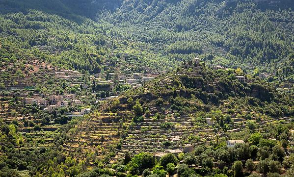 Atop Deia' looking down on the splendor of the village