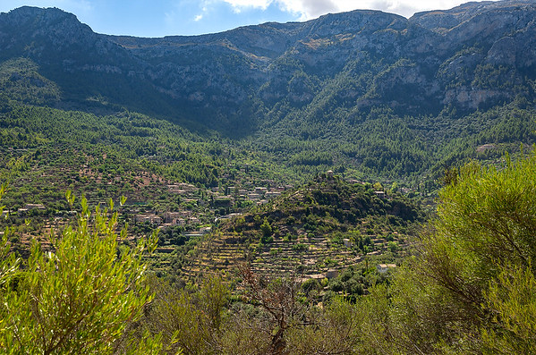 Atop Deia' looking down on the splendor of the village