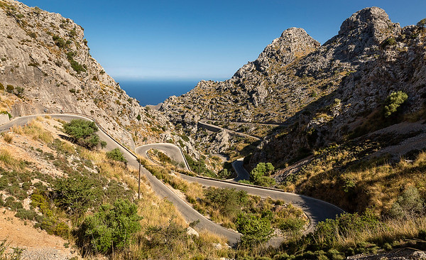 Drive to and from Sa Calobra  & Torrent de Pareis.  LOVED THAT DRIVE!