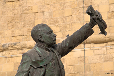 Journalist and philosopher, Manuel Dimech was  a famous fighter for social justice in pre-independence Malta.       Valletta, Malta. 03/23/2019 This work is licensed under a Creative Commons Attribution- NonCommercial 4.0 International License