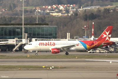 Airbus A320-200 9H-AEN c/n 2665 of Air Malta ZRH 03/22/2019  This work is licensed under a Creative Commons Attribution- NonCommercial 4.0 International License