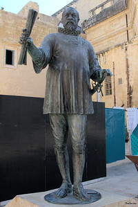 Valletta, Malta.    Grand Master Jean de Valette, the hero of  the siege of Malta and founder of the city of Valletta     03/24/2019 This work is licensed under a Creative Commons Attribution- NonCommercial 4.0 International License