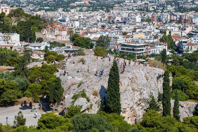 Rock where Apostle Paul (who wrote to corinthins) was exaimed and refused admission to Atherns