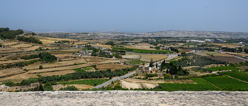 View over the Mdina city wall
