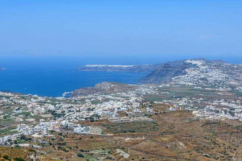 View from Mount Profitis Ilias