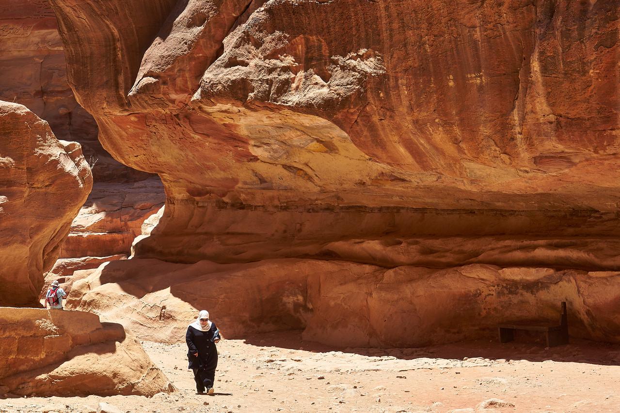 Through the slot canyon
