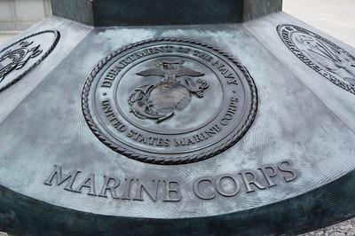 U.S. Marine Corps emblem at the World War II Memorial