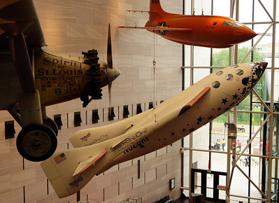 Charles Lindbergh's Spirit of St. Louis, Burt Rutan's Space Ship One, and Chuck Yeager's X-1 National Air and Space Museum