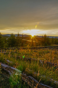 Sunset along the Madison River. Yellowstone National Park.
