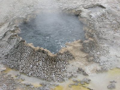 Hot Spring at Lower Geyser Basin, Yellowstone National Park