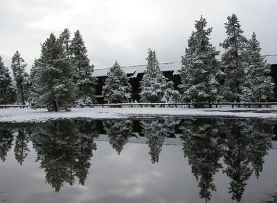 Reflection at the Old Faithful Inn