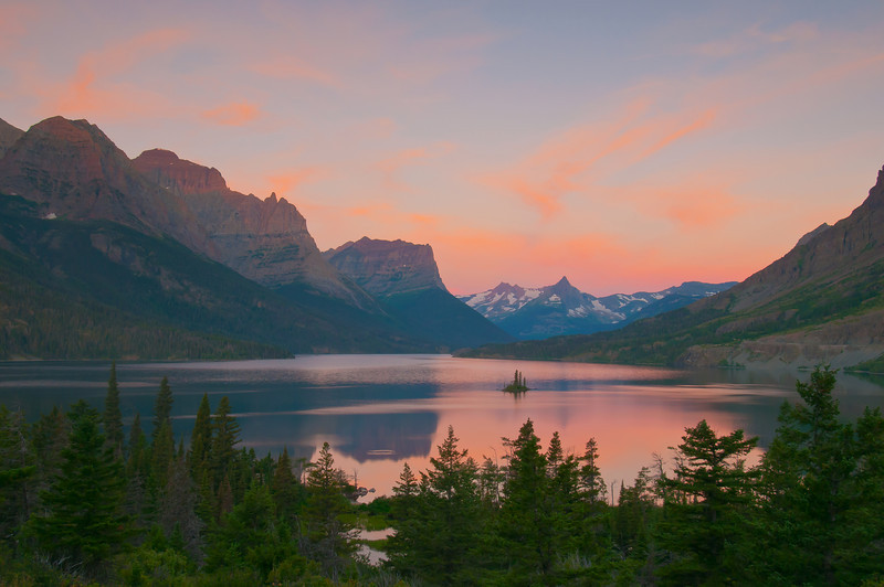 TRMT-12094: St. Mary's Lake sunrise