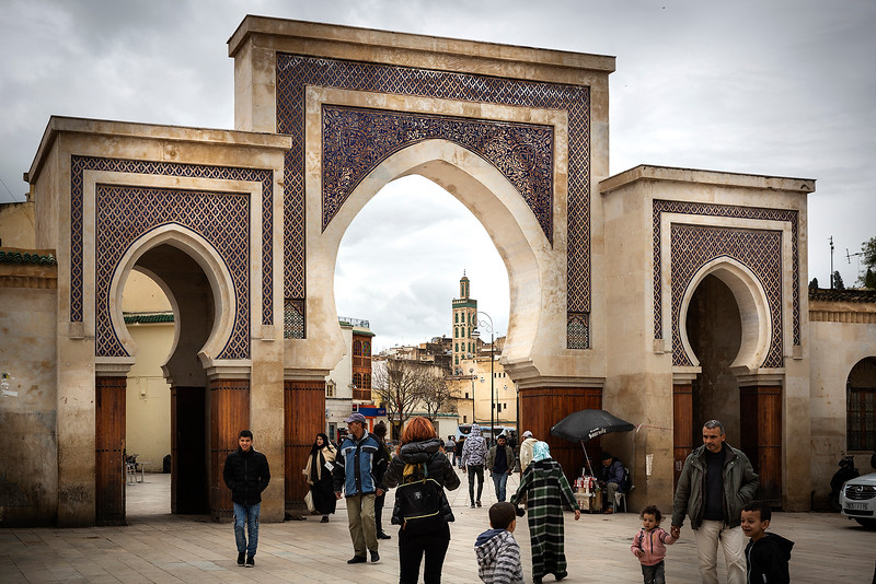 Another gate entrance to the medina, Bab Ain Zleten