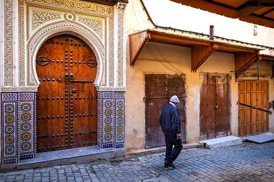 Early morning medina before shops open