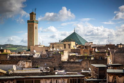 Morocco's second-largest mosque and the oldest Islamic building in Fez.  Founded in 857, the mosque adjoins the historic university of the same name, and is considered Morocco's holiest mosque, making it an important spiritual center for Muslims