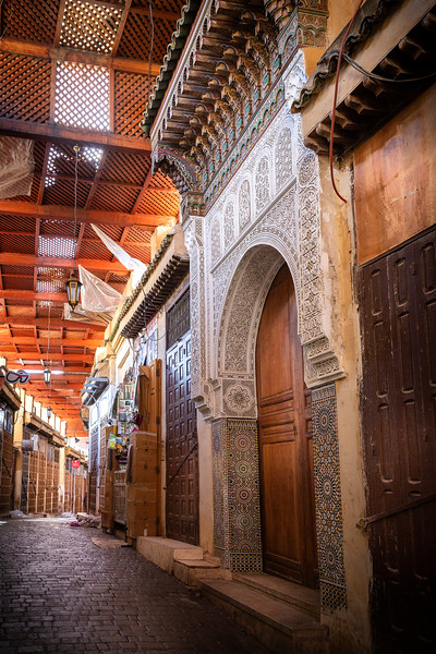 Early morning medina before shops open