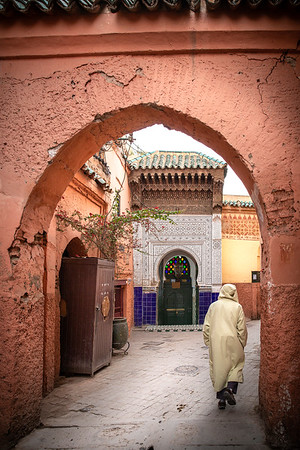 Zaouia (an Islamic religious school or monastery - similar to a madrasa)) of Sidi Abdelaziz Tebba, one of the 'seven saints' of Marrakesh