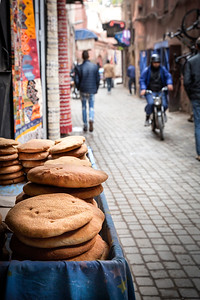 Flat bread....probably the most popular of the ten variations of Morocco breads