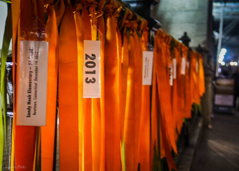 3-26-19: Prayers for peace, ribbons commemorating gun violenve victims