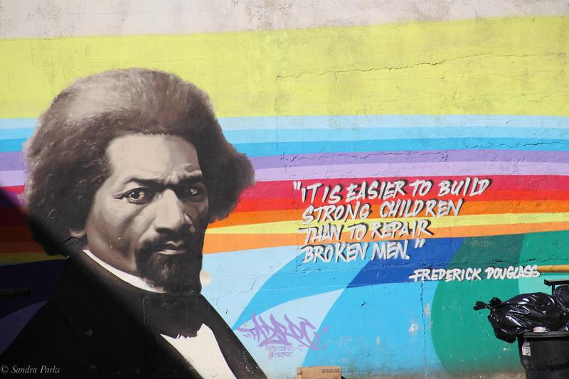 Frederick Douglass, guarding my car too.