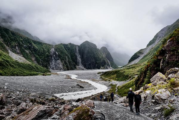 Descending Fox Glacier