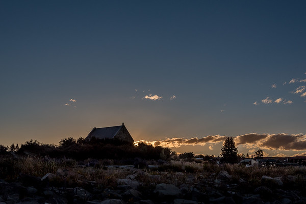 Sunset at Church of the Good Shepherd