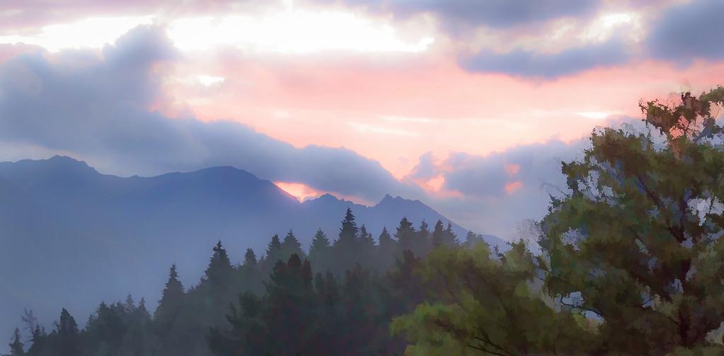 Mountains Beyond Lake Wakatipu - Queenstown
