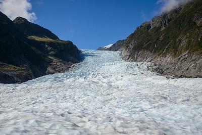 Gelukt, we staan eindelijk op Fox glacier dankzij het mooie weer!