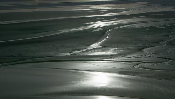 Midnight beach stroll