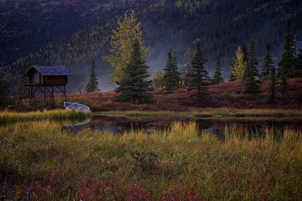 Pond Camp Denali at Sunset