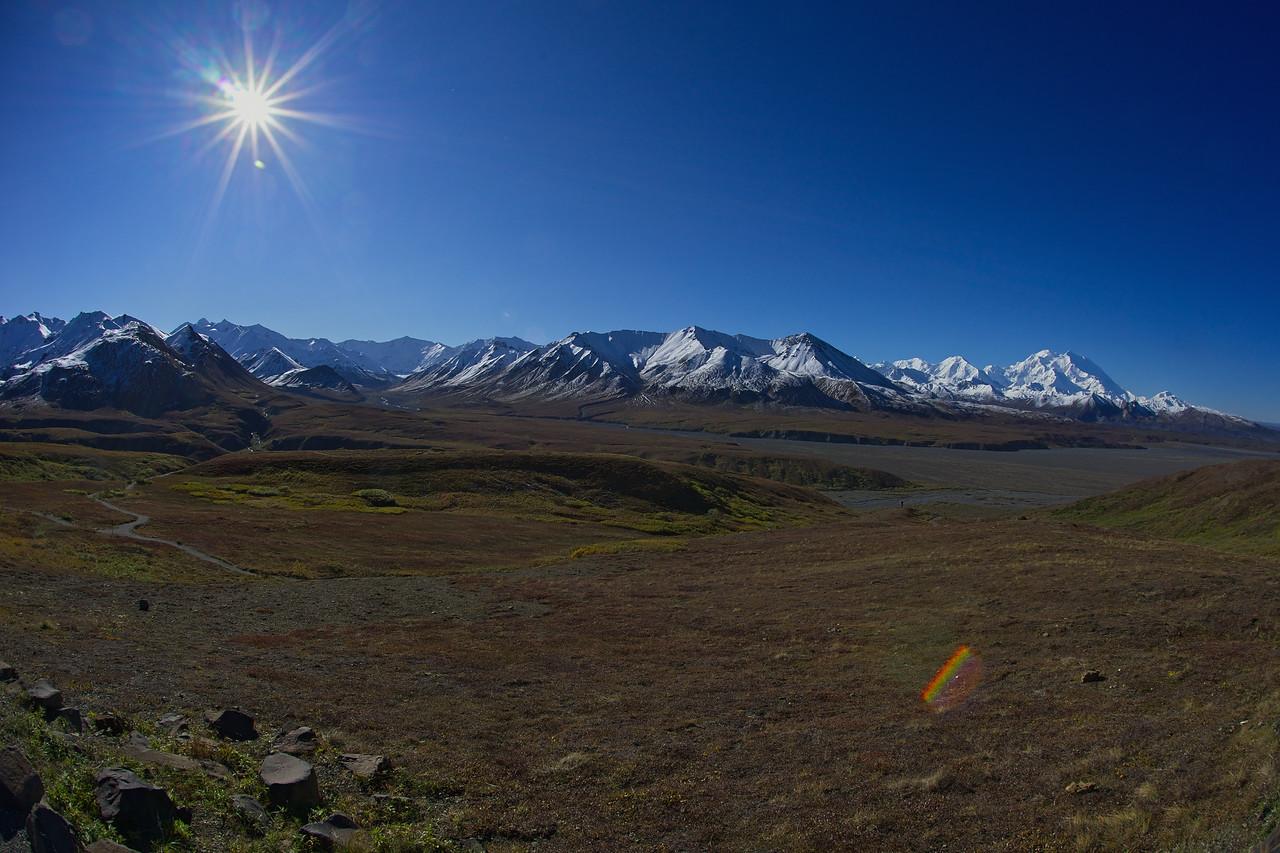Sun Over Alaska Range