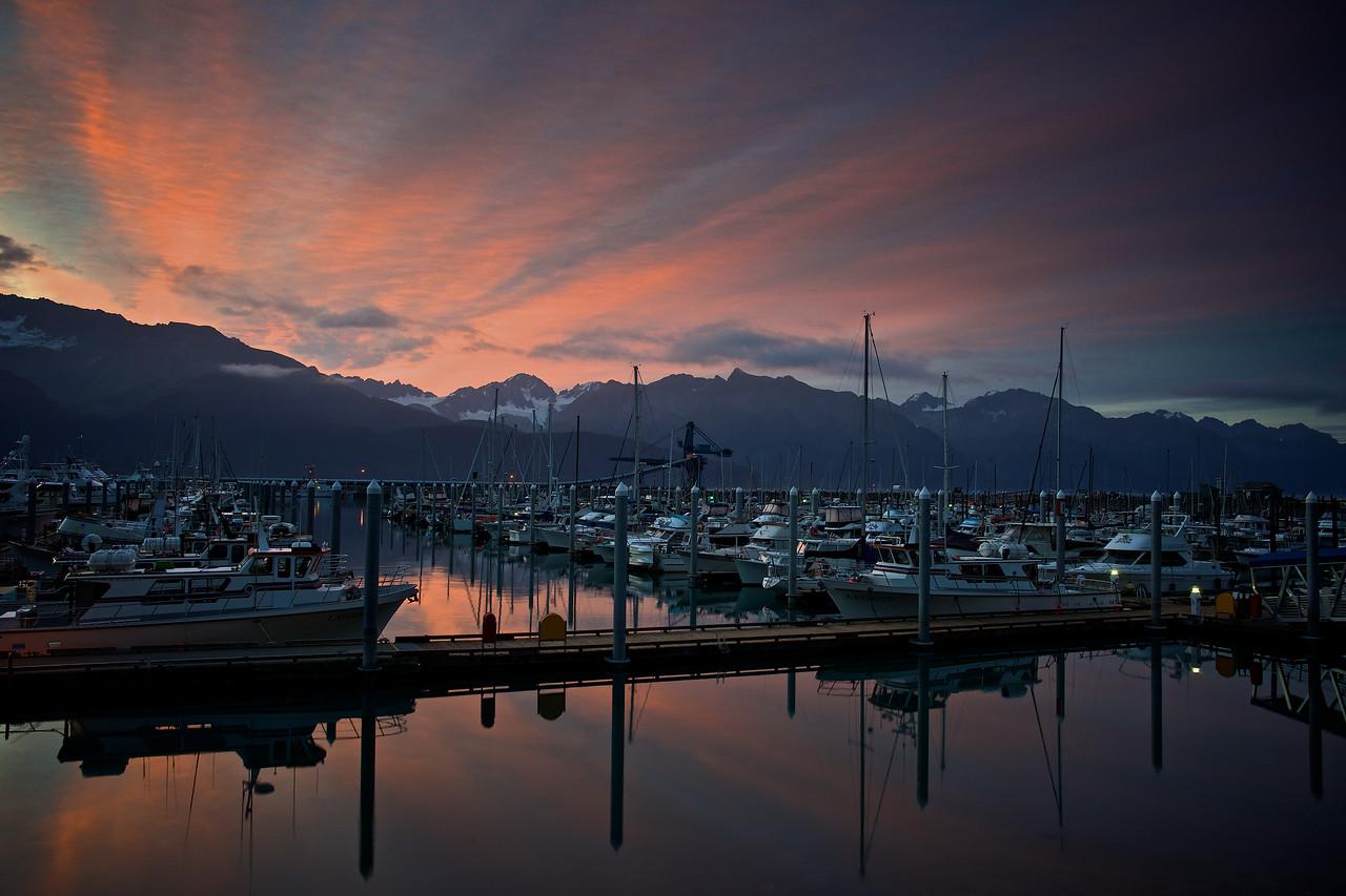 Sunrise Seward Marina