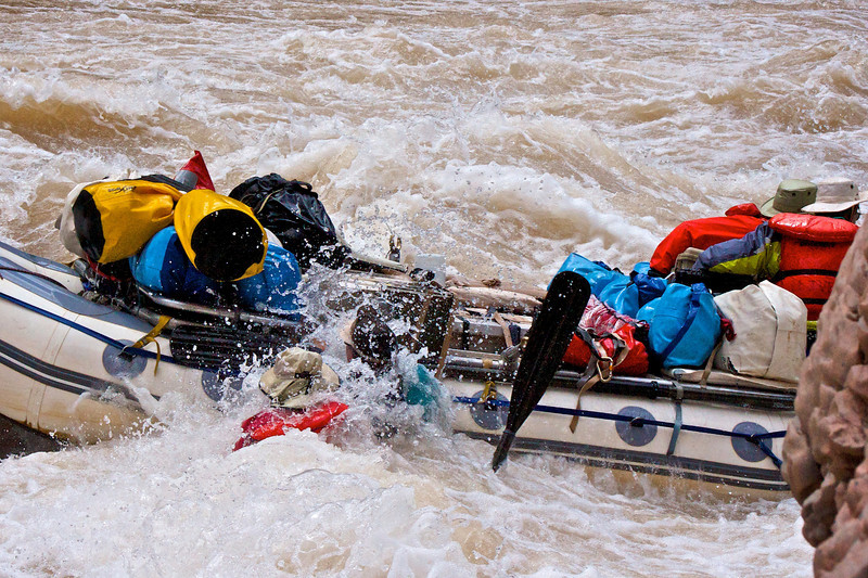 being swept off - to be picked up shortly. Why life jackets are a good idea.