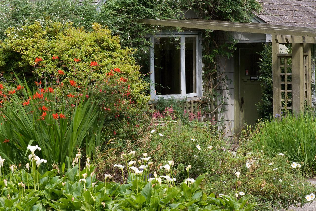Vancouver Island Milner gardens Qaulcum<br /> Gardner's cabin