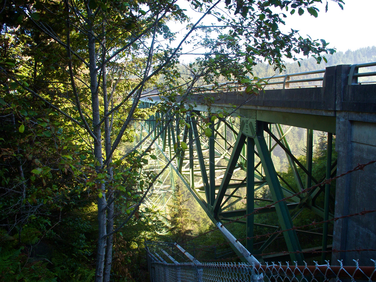 Thomas Creek Bridge - near Carpenterville OR - the highest bridge in Oregon